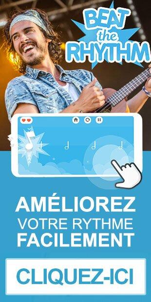 L'application heat the rhythm qui permet d'apprendre à jouer son instrument en rythme sur android et ios.